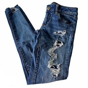 American Eagle | Distressed Super Low Jegging